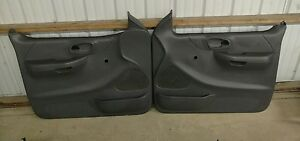 Ford Truck F 150 Door Panels both L r Handles Above Arm Rest Oem 1998 2003