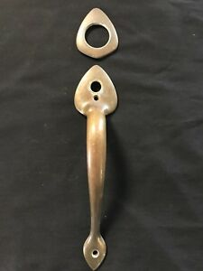 Vintage Brass Door Handle Barn Door Pub Has Hole For Lock Piece For Deadbolt