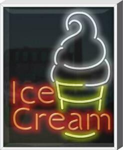 Outdoor Ice Cream Neon Sign Outdoor Jantec Real Neon 24 Wide X 30 High