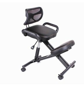 Ergonomically Designed Knee Chair With Back And Handle Office Kneeling Chair