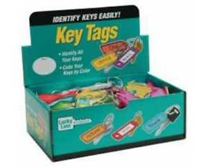 Lucky Line 12300 Key Tag With Tang Ring 100 Per Display Box