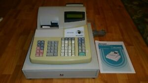 Sharp Xe a40s Electronic Cash Register With Cash Tray Customer Store Receipts