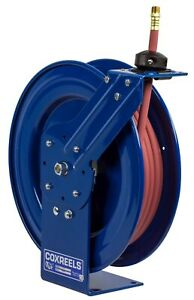 Coxreels P lp 350 Air Hose Reel Spring Return 3 8 In Id X 50 Ft
