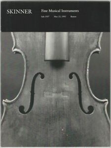 Skinner Fine Musical Instruments Auction Catalog May 23 1993