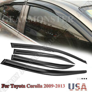 For Toyota Corolla 2009 2013 Window Visor Vent Shade Mugen Style 3d Wavy 4pcs