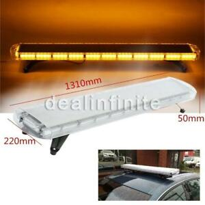 96 Led 51 Light Bar Emergency Beacon Warn Tow Truck Response Strobe Amber Us