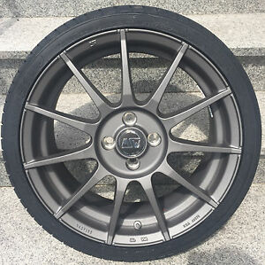 Msw 85 Alloy Wheels Smart Fortwo 453 Winter Tyre Continental 16 Inch Grey By Oz