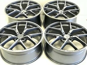 2019 19 Replica Staggered Mercedes Benz Amg Wheels New 5x112 Gray Gloss Machine