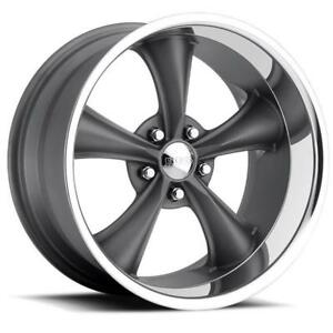 Boss 338 Series 20x10 5x4 75 Aluminum 1 piece Gray 2 Wheel Set