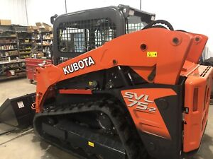 2018 Kubota Svl 75 2 2 speed Skid Steer Track Loader Q Tach Bucket