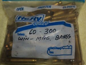 BRASS FOR ART RELOADING OR RECYCLING  60 300 WINCHESTER MAGNUM CASES