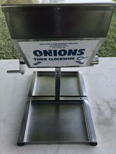 Win holt Onion Dispenser Stainless Steel Counter Top Dispenser With Hand Crank