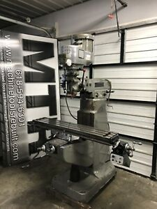 Super Nice 9x48 Late Model 2hp Bridgeport Vertical Mill With 8 f Power Feed