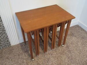 Poul Hundevad Nesting Tables Serving Cart Teak Denmark Danish Modern Mcm
