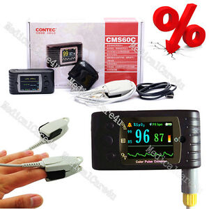 Us Seller Cms60c Portable Pulse Oximeter Oled Spo2 Monitor Alarm software Fda