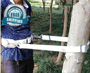 Huawell Safety Belt With Adjustable Lanyard Tree Climbing Construction