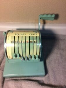 Vintage Paymaster Check Writer Series X 550 Printer Stamper free Ship vgc