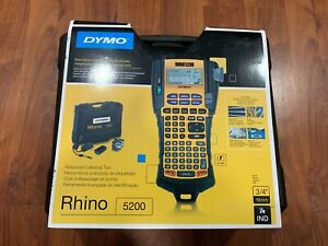 Dymo Rhino 5200 Industrial Label Maker Cary Case Bundle New