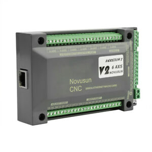 Nvem Cnc Controller 6 Axis Mach3 Ethernet Interface Motion Control Card Board 2m