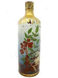 Antique Stoneware Bottle Pourer 10 Signed Japanese Ink Antoine
