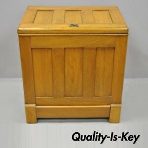 Antique Gibson Refrigerator Co Small Oak Wood Icebox Ice Chest