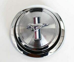 New 1967 1968 Ford Mustang Gas Cap Pop Open Pony Emblem Chrome Free Shipping