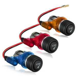 Car Motorcycle 12v Waterproof Cigarette Lighter Power Socket Plug Outlet 4 Color