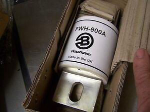 New Perfect Genuine Bussmann 900 Amp Electrical Fuse Fwh 900a