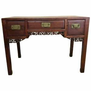 Small Chinese Rosewood Desk Late Qing Dynasty