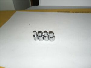Snap On 4pc 1 4 Dr 6pt Tmm4 4mm Tmm5 5mm Cracked Tmm5 5 5 5mm Tmm6 6mm Socket