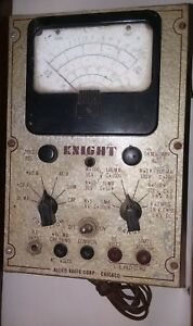 Vintage Allied Radio Knight Test Meter c6
