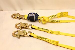 Dbi Sala 1246022 Ez stop Shock Absorbing Lanyard 6 Web Snap Hooks At Each End