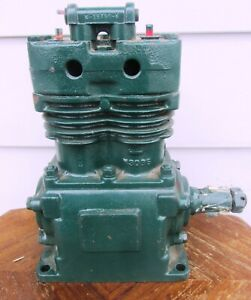 Vintage antique Two Cylinder Air Compressor Rare Two Stroke Nice Steam Punk