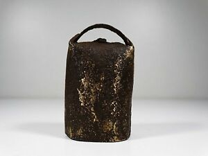 Antique Small Hand Wrought Portuguese Agricultural Cowbells Cow Bells 1900