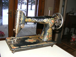 Antique Singer Treadle Sewing Machine No 66 1