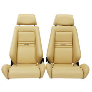 2 Jdm Recaro Specialist Leather Reclinable Seats Solid Headrest Racing Cars