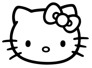 Hello Kitty Vinyl Decal Bumper Sticker Door Truck Car Windows Outdoors Etc