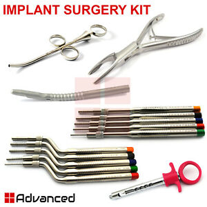 Dental Implant Surgery Kit Sinus Lift Offset Osteotomes Concave Bone Grafting Ce