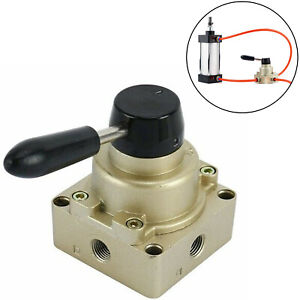 3 Position 4 Way Rotary Lever Hand Valve Pt1 4 Pneumatic Air Flow Control Valve