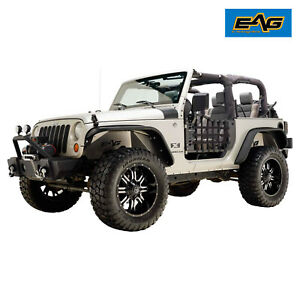 07 18 Jeep Jk Wrangler 2 Dr Steel Tube Doors Matrix Blk And 2 Reflection Mirrors
