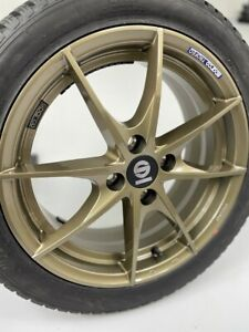 Complete Summer Wheel Set Smart Forfour 453 Alloy Sparco Trofeo Bronze Kumho