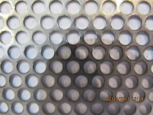 3 16 Holes 18 Gauge 304 Stainless Steel Perforated Sheet 12 5 X 26 75