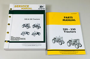 Service Parts Manual For John Deere 320 330 Series Tractor Repair Shop Set