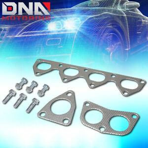 For 1992 2001 Honda Prelude H22a1 2 2l Dohc Exhaust Manifold Header Gasket Set
