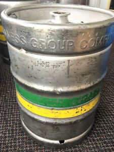 Beer Keg 50 Liter Used Empty Stainless Steel Barrel 13 3 Gallon Guinness Tap