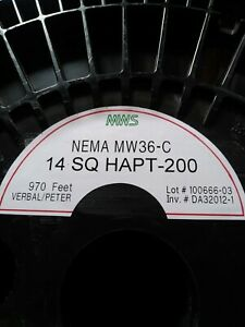 14awg Square Cooper Magnetic Wire Heat Resistant Clear Coating 970 Ft New