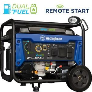 Westinghouse 4 650 w Portable Dual Fuel Gas Powered Generator With Remote Start