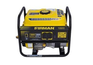 Firman 1 500 w Quiet Portable Gas Powered Generator Lightweight Home Rv Camping