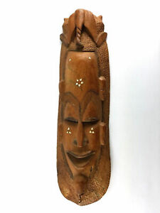 Antique African Mask Elm Rose Wood Carved Elephant Large Totem Rare Tribal