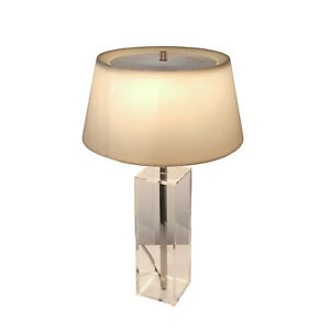 Mid Century Modern Laurel Lucite Desk Table Lamp Space Age Mod Retro 60s Vintage